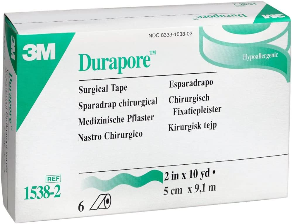 """Durapore Surgical Tape, 2"""" (Box of 6 Rolls)"""