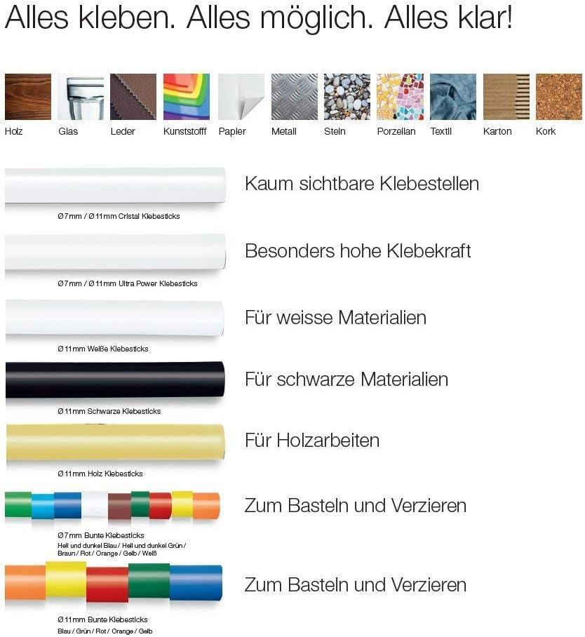Glitzer Colla colorata per fusione /Ø 7 mm 16 St/ück Steinel