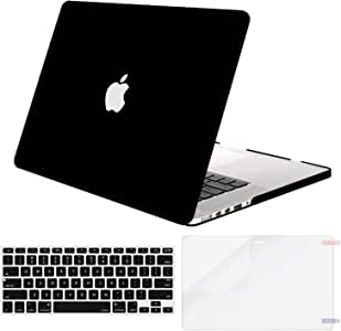 MOSISO MacBook Pro 13 Inch Case A1502 & A1425,Plastic Hard Shell Case & Keyboard Cover & Screen Protector Compatible with Older Version Mac Pro Retina 13 Release 2015 - End 2012, Black