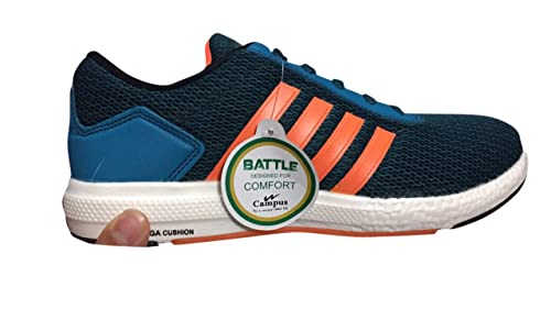 e4ba0f217b11 Image Unavailable. Image not available for. Colour  Campus Mens Battle X11  Blue and Orange Running ...