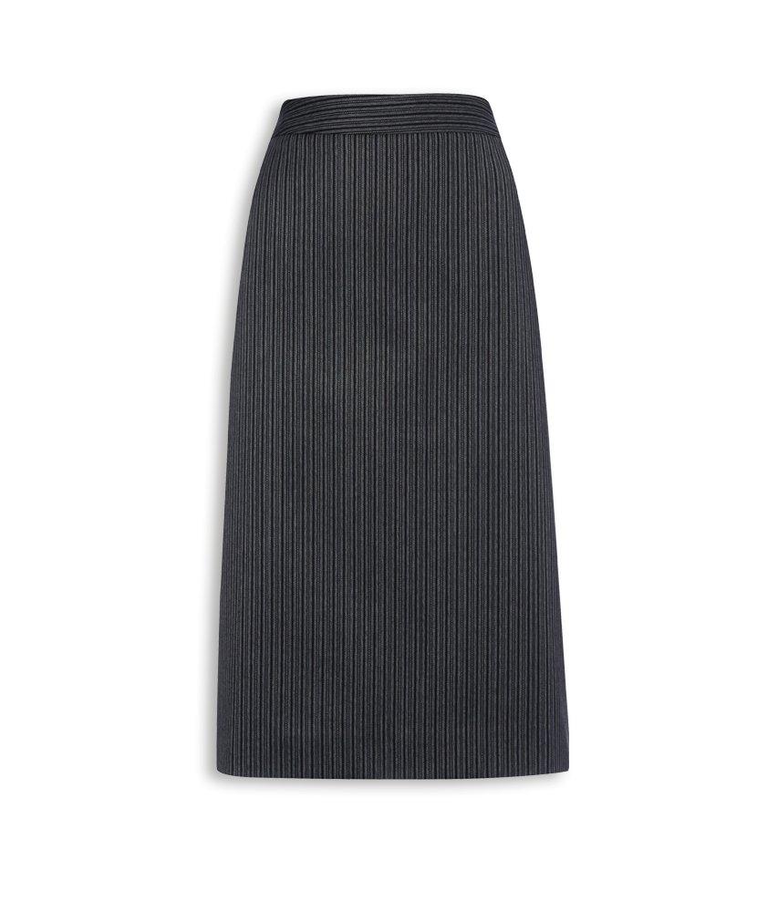 Size 10 Charcoal Pinstripe 55/% Polyester//45/% Wool Regular Alexandra STC-NF41CH-10R Morning Skirt