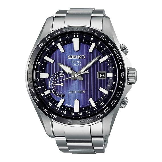 Reloj Seiko Astron Solar World Time SSE159J1 Hombre Azul: Seiko: Amazon.es: Relojes