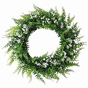 Artificial Green Leaf Wreath Door Wreath 92