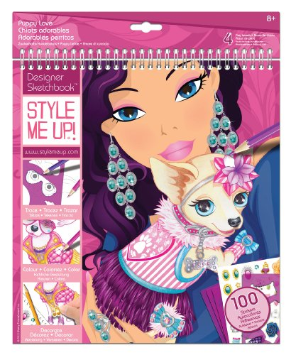 Style Me Up Puppy Love Sketchbook
