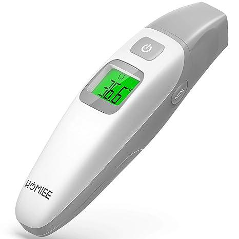 HOMIEE Termómetro Infrarrojo Digital Médico de Frente y Oído para Bebés, Niños y Adultos,