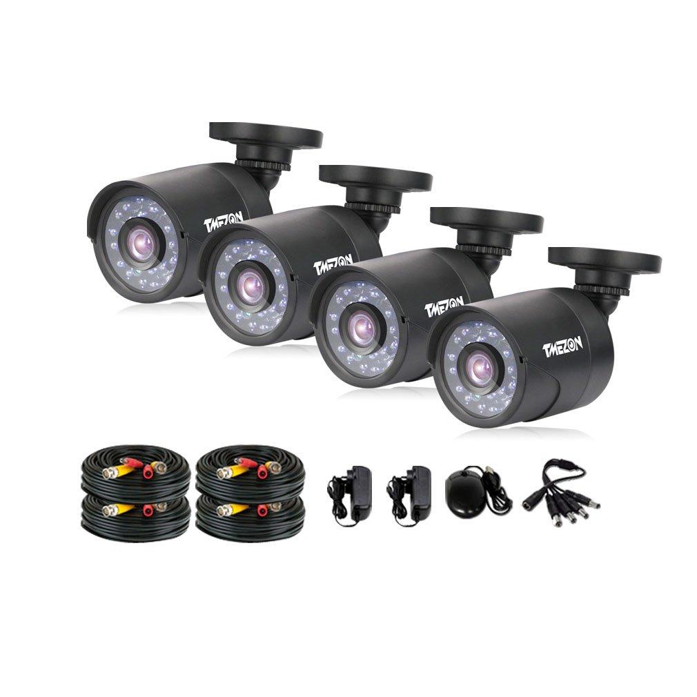 TMEZON AHD監視カメラ4台 200万画素 赤外線LED24個 3.6mmレンズ&18.3M BNCケーブル (カメラ4台&18.3M BNCケーブル) B01AJGTHTY カメラ4台&18.3M BNCケーブル カメラ4台&18.3M BNCケーブル