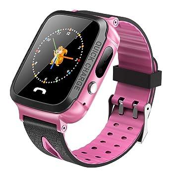 Tosuny Smartwatch para niños con LBS + GPS, Reloj Inteligente para ...