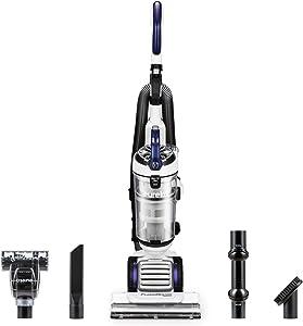 Eureka NEU522 FloorRover Dash Upright Pet Vacuum Cleaner, HEPA Filter, Swivel Steering for Carpet and Hard Floor, Bagless, Deep Ocean (Renewed)