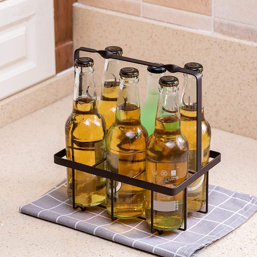 Wire Metal Bottle Carrier For Milk//beer Simple Innovative Bottle Storage Stand Restaurant Bar Kitchen Living Room