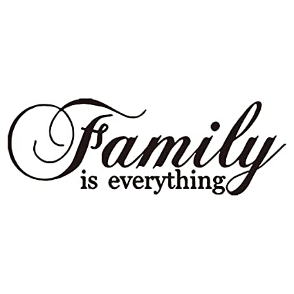Amazoncom Hacaso Family Is Everything Quote Wall Decor For Home