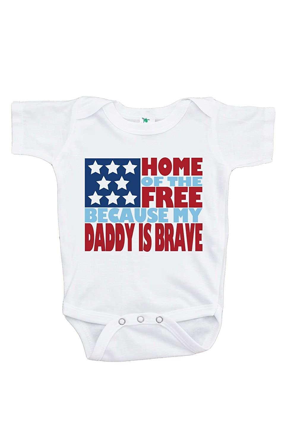 Amazon.com  7 ate 9 Apparel Baby s Daddy is Brave 4th of July Onepiece  Baby 15397274d