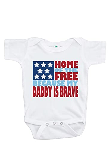 7 ate 9 Apparel Baby s Daddy is Brave 4th of July Onepiece 0-3 Months 4fe82c31f