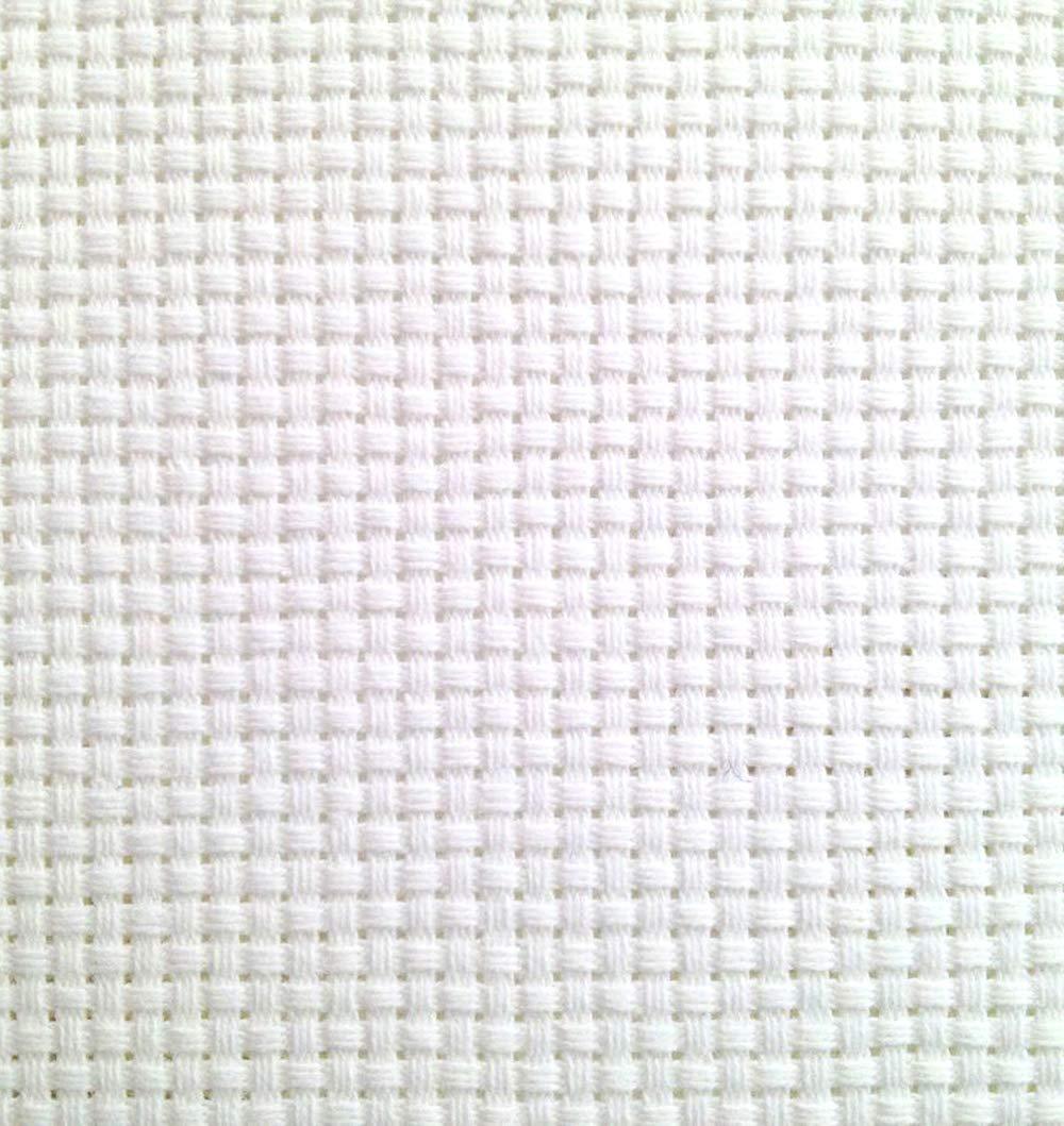KCS 19 x 28 11CT Counted Cotton Aida Cloth Cross Stitch Fabric White
