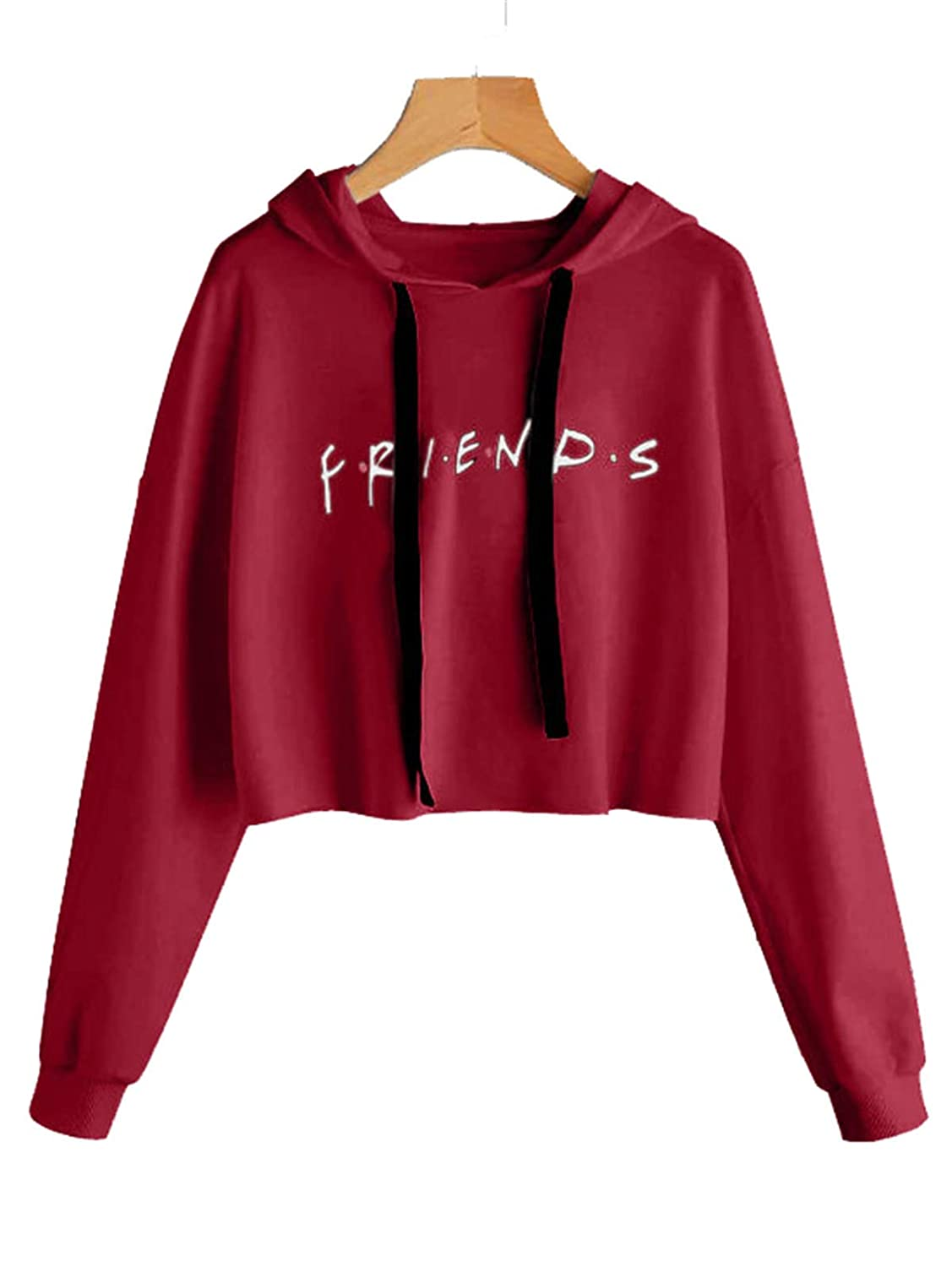 ALAPUSA Friends TV Show Sweatshirt Graphic Crop Top HXZ2018081302