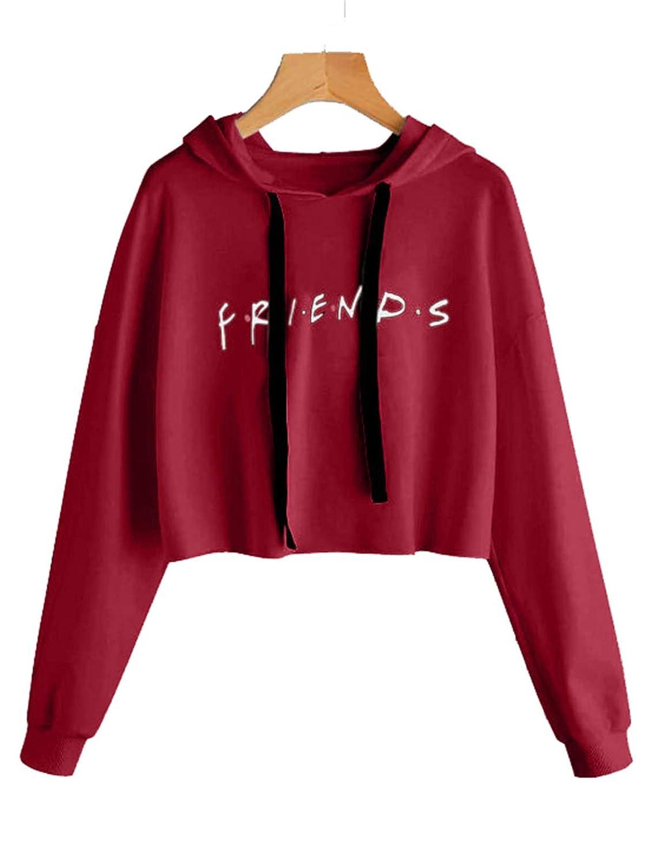 ALAPUSA Teen Girl Friends Print Graphic Sweatshirt Women Cute Hoodie HXZ2018081301