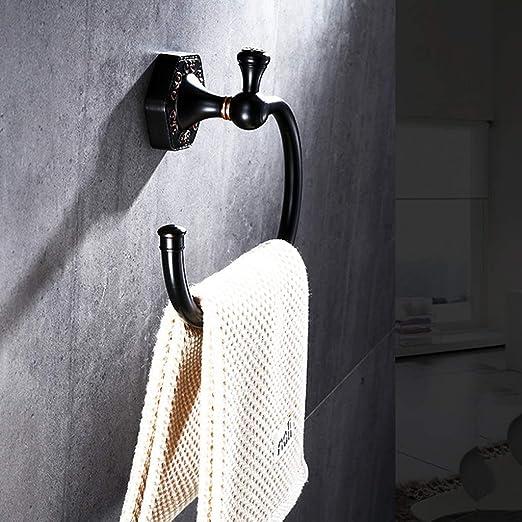 Amazon.com: ZHANGY Toallero, toallero Cobre Negro Toalla colgador accesorios de baño Hotel de Estilo moderno montado en la pared,: Home & Kitchen