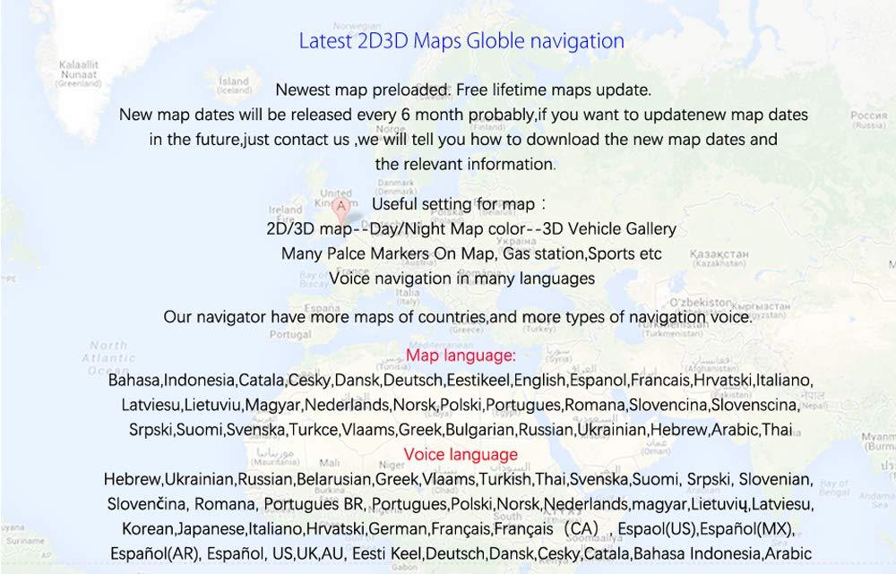 Code Postal radars pr/é-install/és pour leurope et Le Royaume-Uni XGODY 712 GPS Syst/ème de Navigation GPS 7 8 Go 256 Mo pour Voiture avec Code Postal