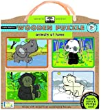 Innovative Kids Green Start Wooden Puzzles: Animals At Home (2Yrs+) Puzzle