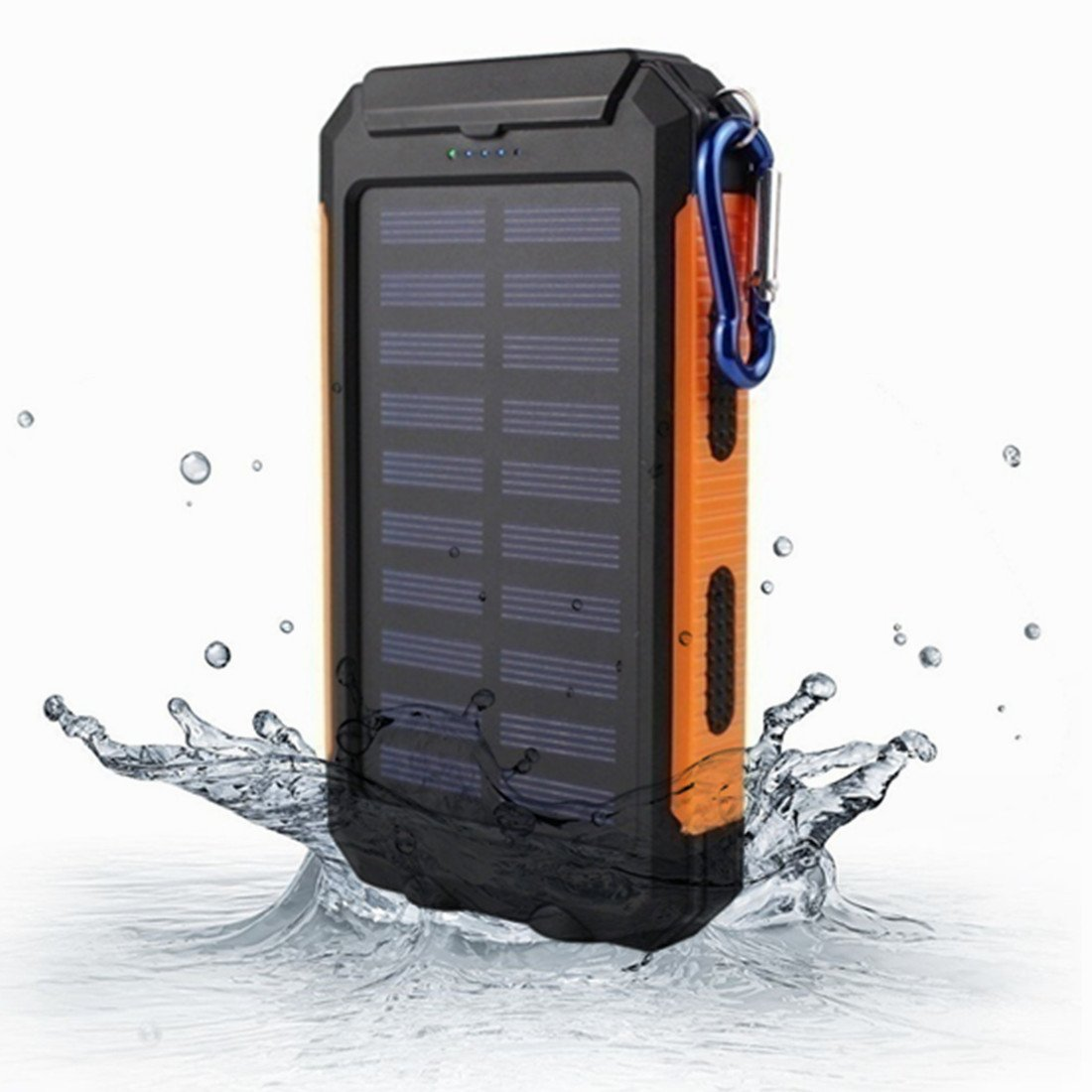 KRECOO Portable Power Banks 20000mAh External Solar Power Bank Dual USB with 2 Flashlight Waterproof Powerbank for iPhone, iPad & Samsung Galaxy & More Quanzhou Adamant Trade Co. Ltd. ad006