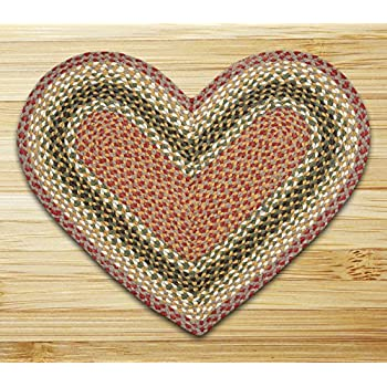 "Earth Rugs 10-024 Rug, 20 30"", Olive/Burgundy/Gray"