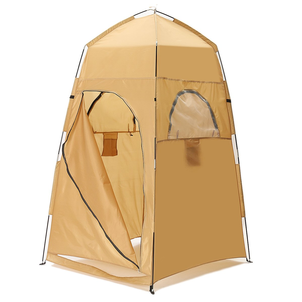 HITSAN Portable Pop-up Camping Shower Bathroom Privacy Toilet Changing Tent Outdoor Shelter One Piece