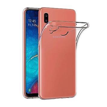AICEK Funda Samsung Galaxy A20, Transparente Silicona Fundas para Samsung A20 Carcasa Silicona Funda Case (6,4 Pulgadas)