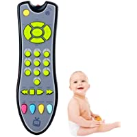 UOLIWO Baby TV Remote Control Toy with Light and Sound, Kids Musical Early Education Learning Realistic Remote Toy…