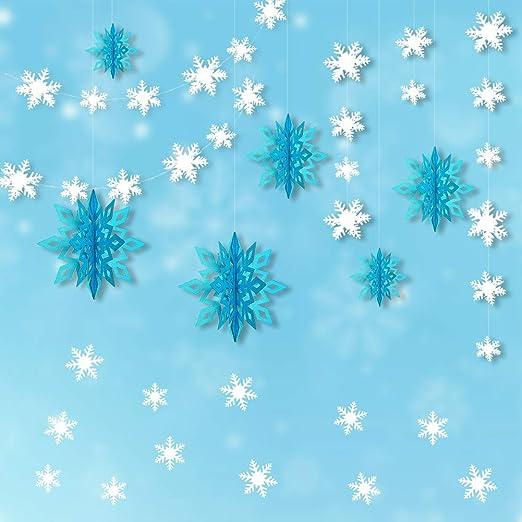 Amazon.com: Kit de decoración de copos de nieve, 24 unidades ...