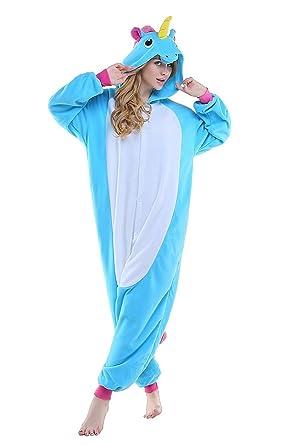 7f75a37c2093 Amazon.com  Adult Unicorn Onesie Halloween Animal Costume  Clothing