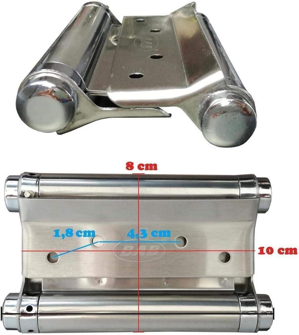 12,5 cm Stabile Scharniere f/ür Schwingt/üren /& Pendelt/üren in zwei verschiedenen Gr/ö/ßen 2x Scharnier Pendelt/ür Pendelt/ürband Edelstahl