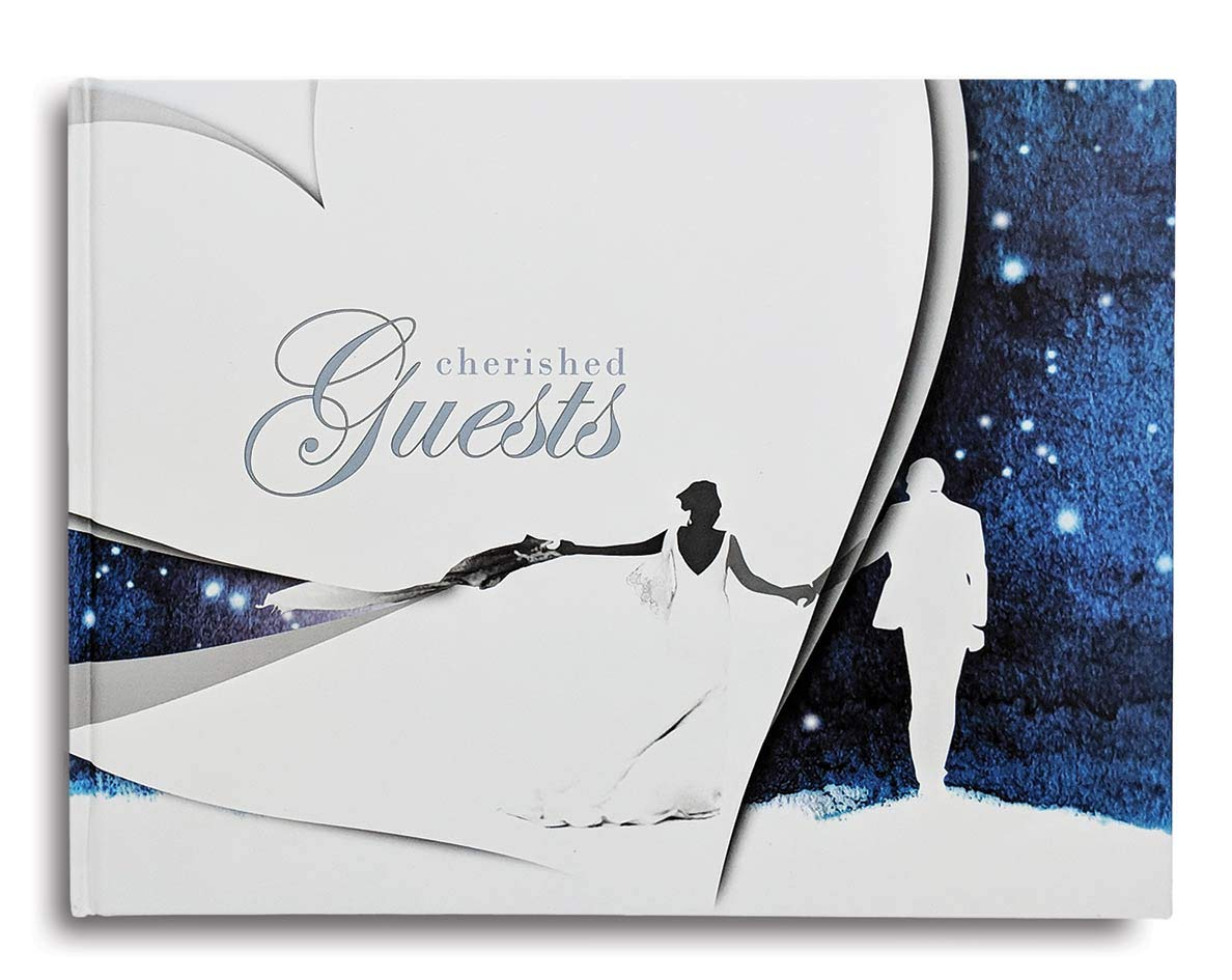 Cherished Guest Hardcover Wedding Guest Book Wedding Guest Advice