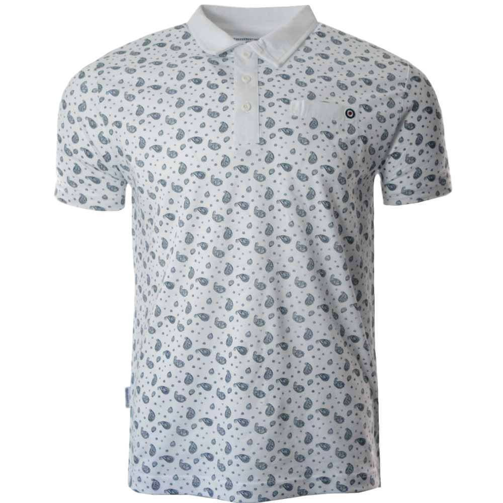 Vintage Shirts – Mens – Retro Shirts Lambretta Mens Smart Casual Retro All Over Print Paisley Mod SKA Polo Shirt £17.99 AT vintagedancer.com