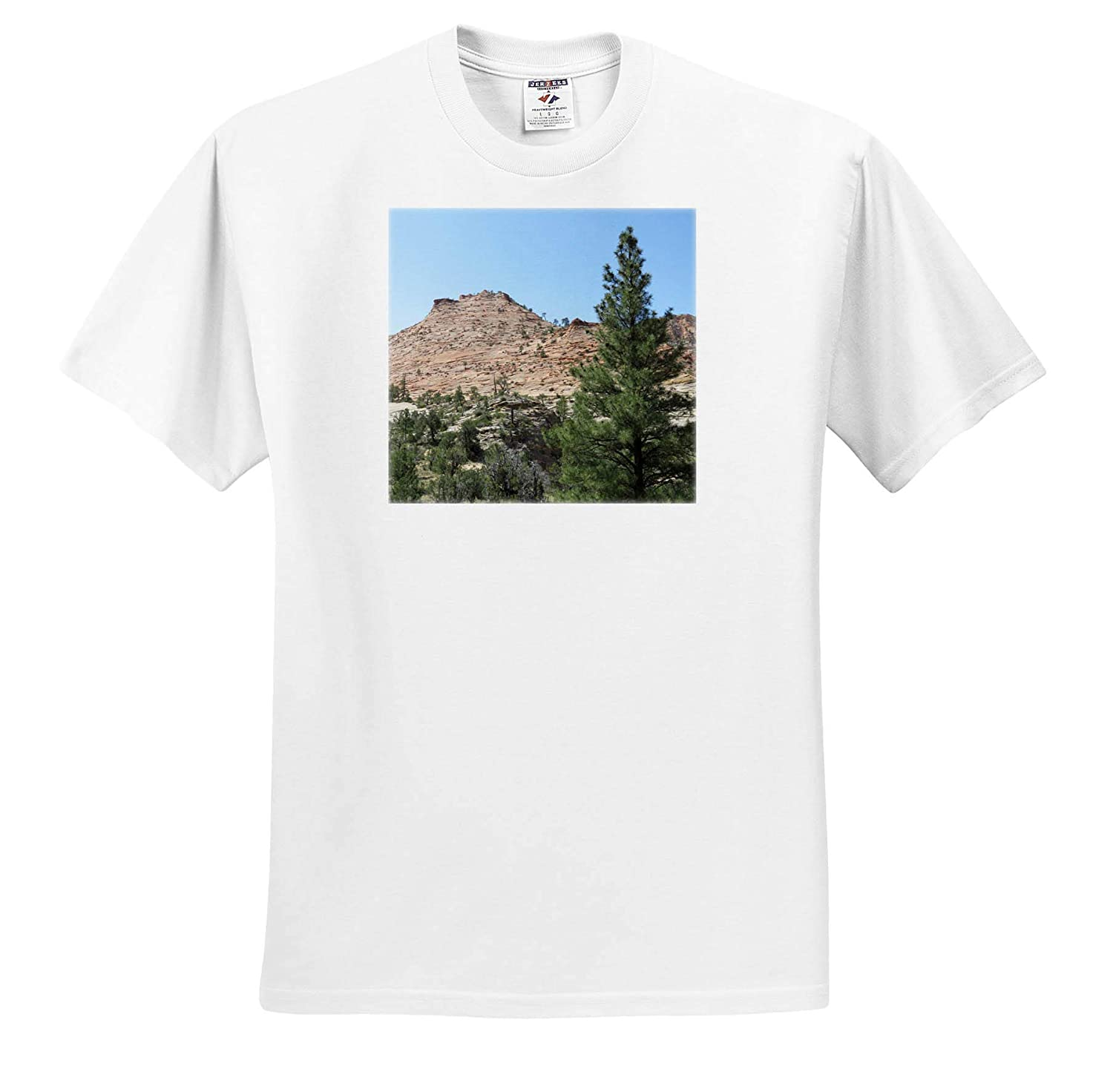 Other Side of Zion The Mountains and Trees on The Way Out of Zion and onto Orderville 3dRose Jos Fauxtographee T-Shirts