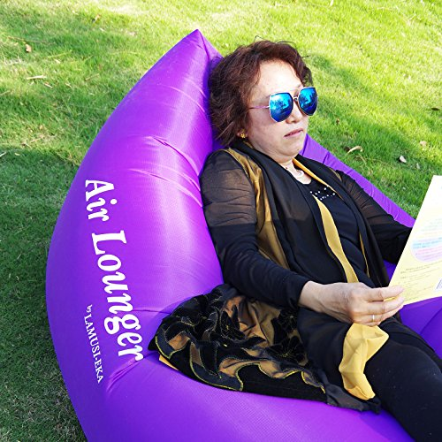 Air-Lounger-with-bagpurple-waterproof-blow-up-couch-sofa-kids-adults-camping--hiking--outdoor--Great-furniture-to-use-as-bed-hammock-chair