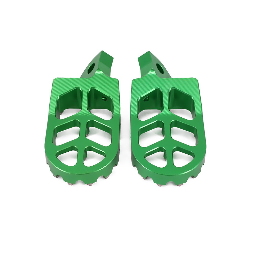 Vert Kawasaki KDX200 KDX220 95-03 KDX250 KX125 KX250 91-96 KX500 91-03 P/édales de pied CNC repose-pieds repose-pieds p/édales