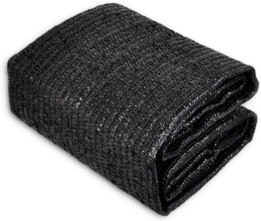SEBORIO Sunblock 50% Shade Cloth Sun Net, Garden Shade Mesh Fabric for Patio, Plant Cover, Greenhouse, 6x12ft, Black