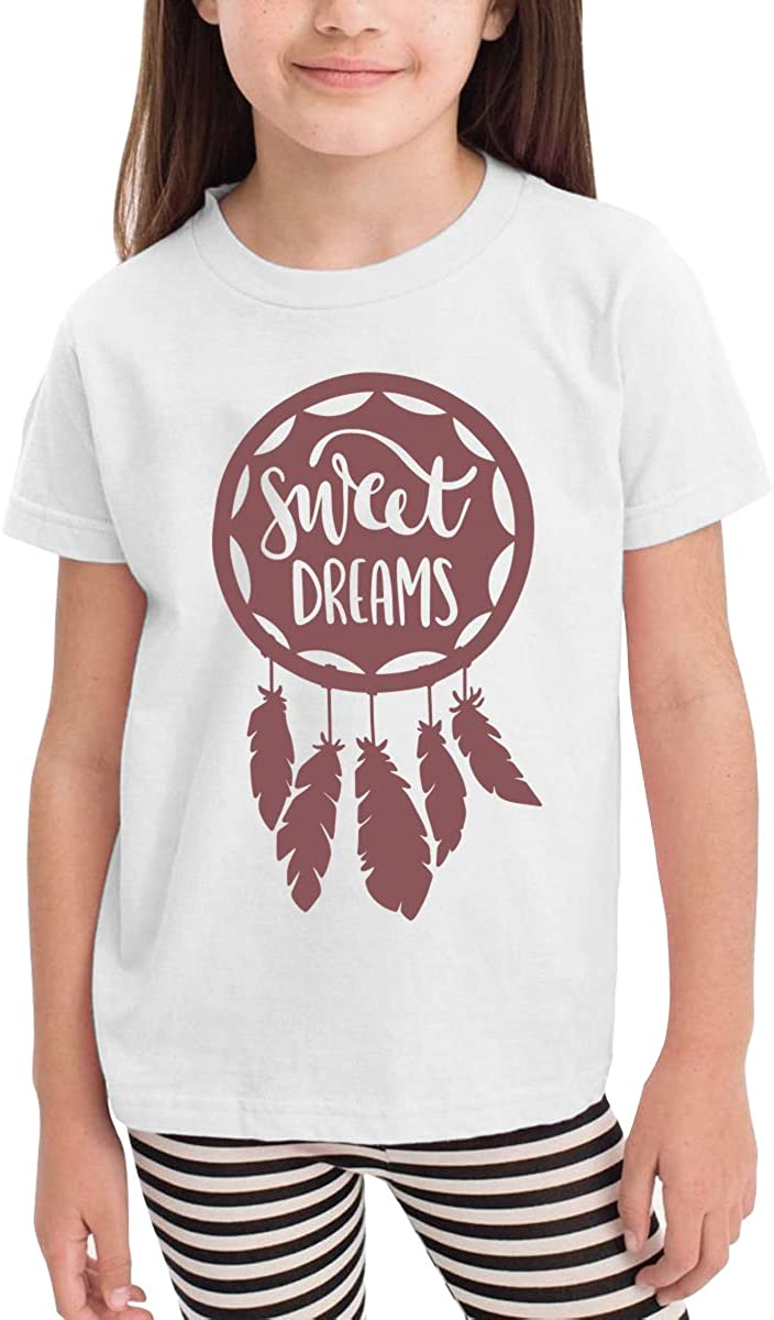 Toddler Boys Girls Kids Funny Graphic Sweet Dreams White T Shirt Cotton Tee Summer Tops