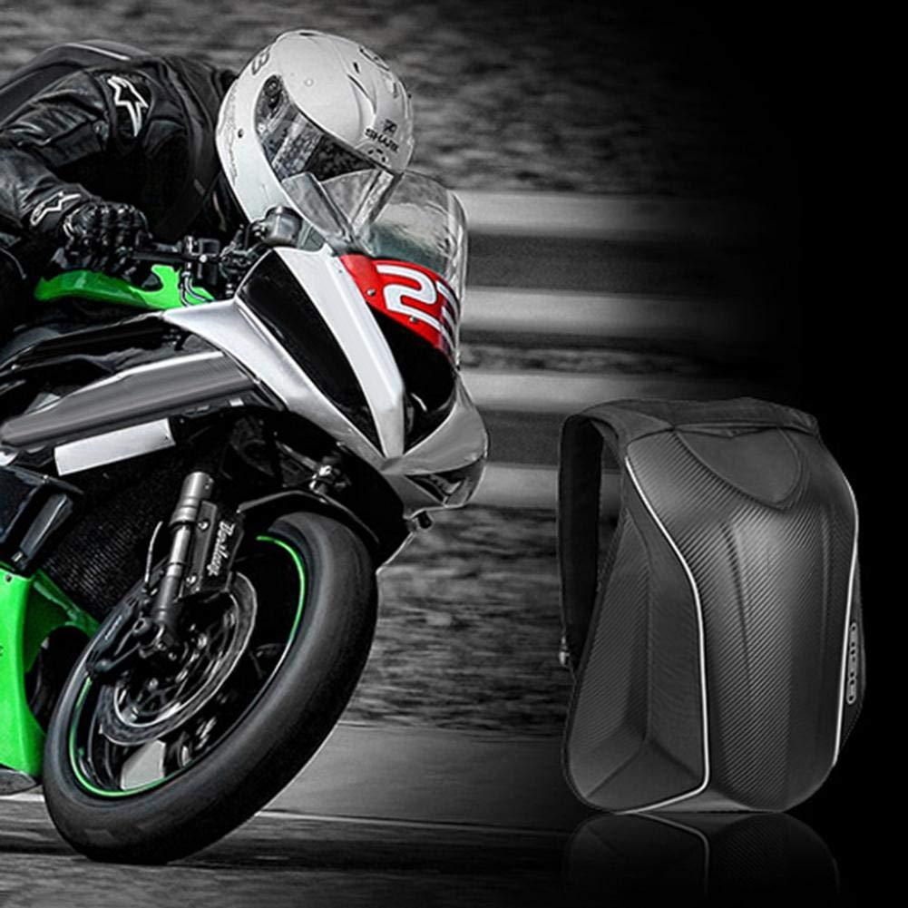 kingpo Fahrradrucksack Motorrad Hard Case Carbon Racing Rucksack wasserdichte Gep/äcktasche