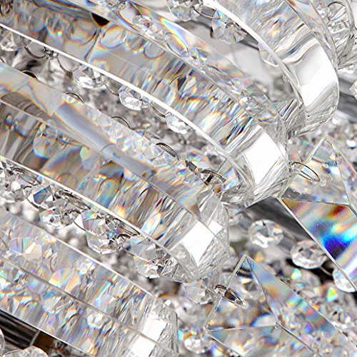 Modern Round Curved Crystal Flushmount Chandelier with Chrome Canopy Lighting Ceiling Light (Small) by Lovedima (Image #4)