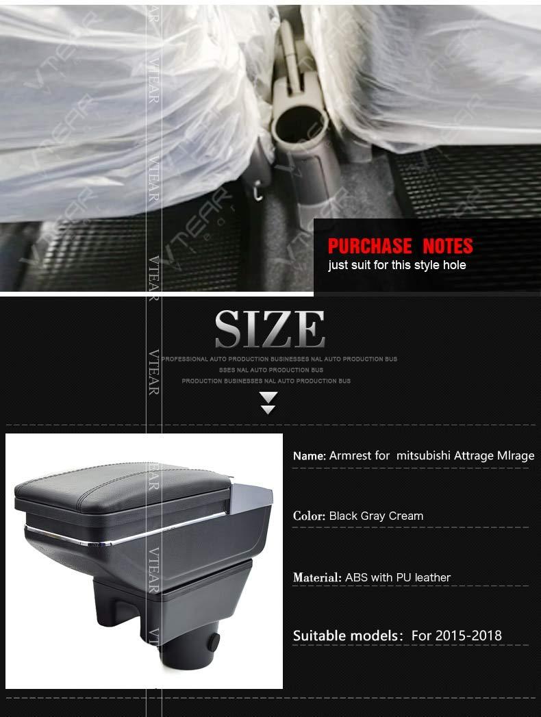 Auto Armlehnenbox F/ür Attrage Mirage Aufbewahrungsbox Zubeh/ör