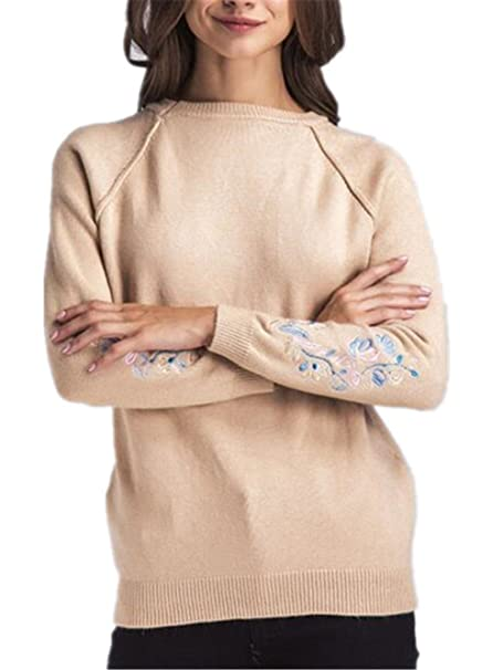 AILIENT Sueter Mujer Sudaderas Cortas Otoño Invierno Nuevo Moda Flor Sweater Elegantes Manga Larga Jersey De