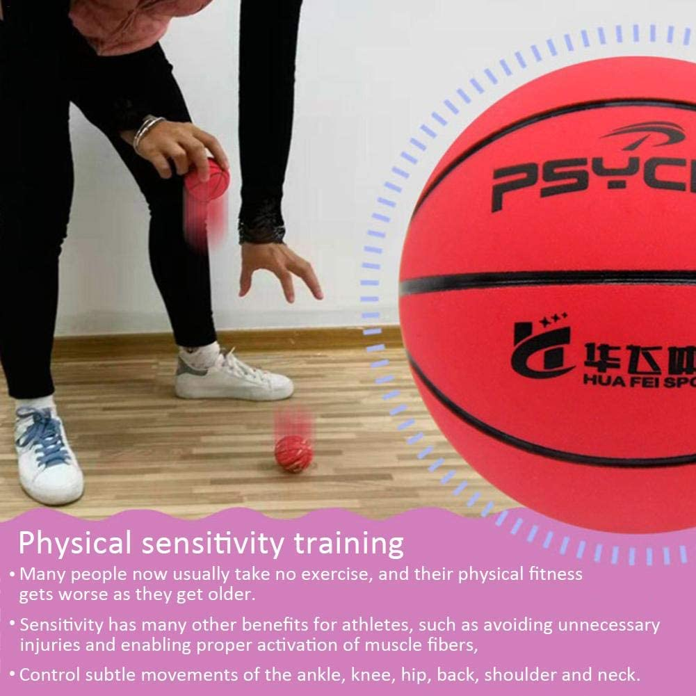 Easy-topbuy Mini Basketball Elastischer Gummibasketball Durchmesser 6cm B/üro Dekompressionsball Desktop Dekoration Interaktives Spielzeug F/ür Haustiere