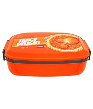 Cello Doppler Plus Insulated Lunch Box,2 Containers,Orange
