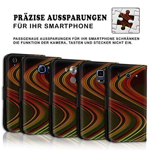 Wallet Book Style Flip Handy Tasche Case Schutz Hülle Schale Motiv Etui für Apple iPhone 6 / 6S - Design Flip MV211