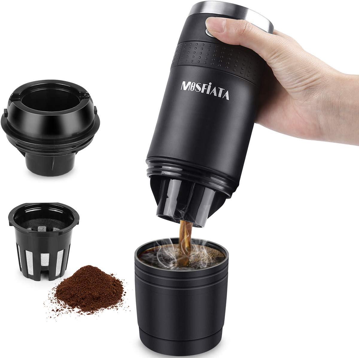 Cafetera portátil MOSFiATA, compatible con cápsulas K-Cup y ...