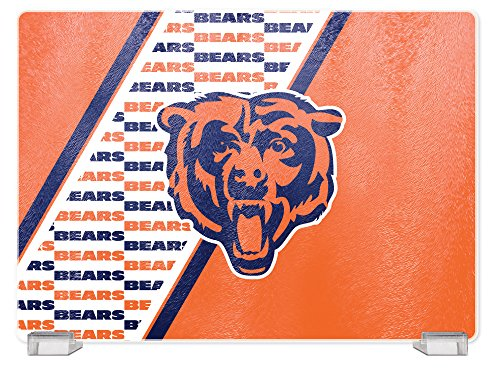 NFL Chicago Bears Tempered Glass Cutting Board with Display Stand