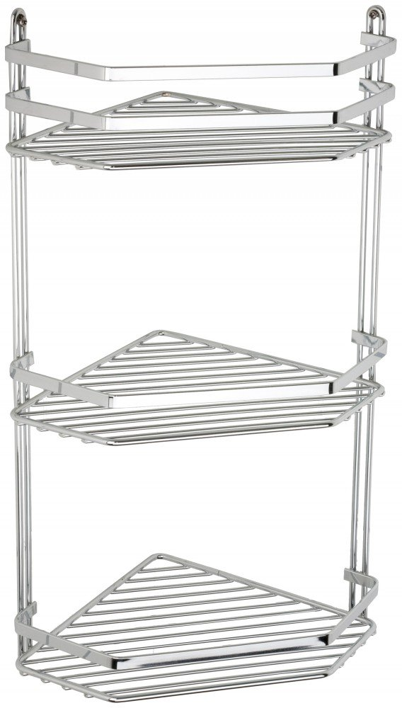 Satina Wire Triple Shelf Corner Shower Basket Chrome by Norwood ...