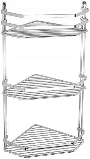 Satina Wire Triple Shelf Corner Shower Basket Chrome By Norwood