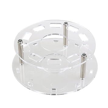 10 Holes Acrylic Transparent Black White Oval Make up Brush Holder Drying Rack