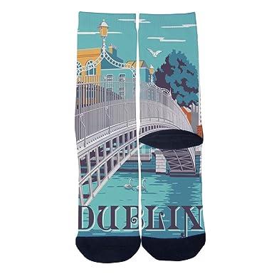 Amazon.com: Calcetines de viaje para hombre de Dublín ...
